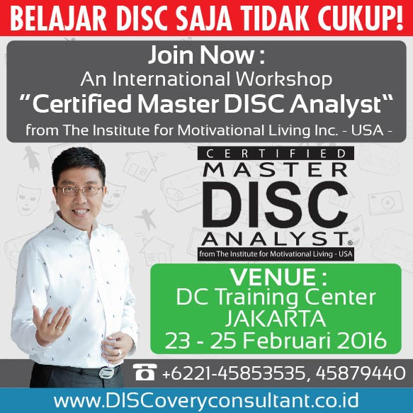 CERTIFIED MASTER DISC ANALYST 23-25 FEB 2016, JAKARTA - Bambang Syumanjaya latest-update